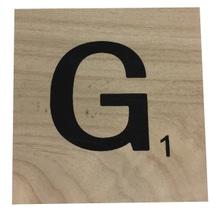 Achat en ligne Lettre G scrabble en bois 10x10x0,6cm