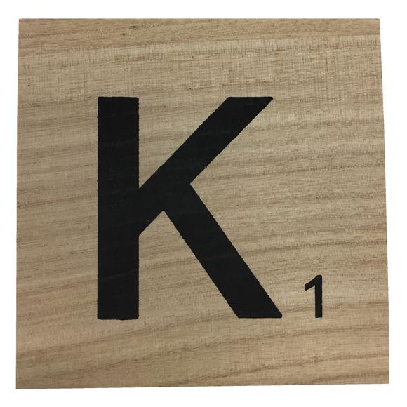acquista online Lettera scarabeo K legno 10x10x0,6cm