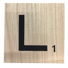 Achat en ligne Lettre L scrabble en bois 10x10x0,6cm