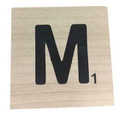 Achat en ligne Lettre M scrabble en bois 10x10x0,6cm