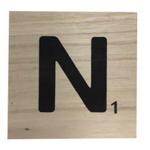 Achat en ligne Lettre N scrabble en bois 10x10x0,6cm