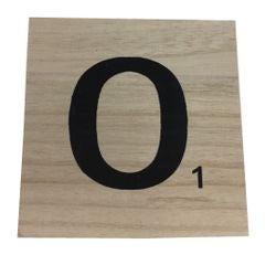 Achat en ligne Lettre O scrabble en bois 10x10x0,6cm