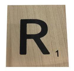 Achat en ligne Lettre R scrabble en bois 10x10x0,6cm