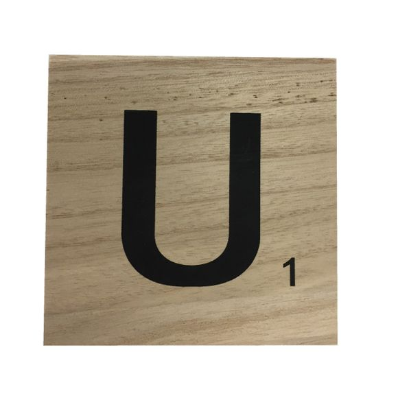 acquista online Lettera scarabeo U legno 10x10x0,6cm