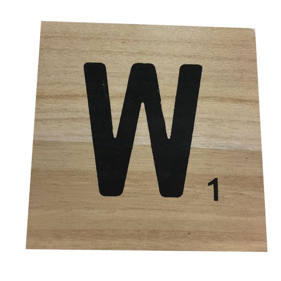 acquista online Lettera scarabeo W legno 10x10x0,6cm