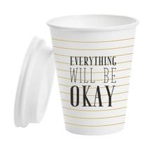 Achat en ligne 5 mugs carton 33cl avec capuchon Everything will be OKAY