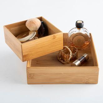 Organizer per cassetti in bamboo, 15x15x6,5 cm