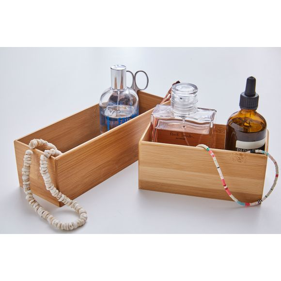 Organiseur de tiroir rectangulaire en bambou 15x7,5x6,5