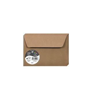 CLAIREFONTAINE - 20 Enveloppes Kraft 114x162 Auto-adhésives Pollen 135g