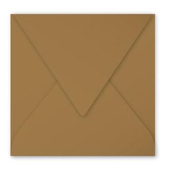 CLAIREFONTAINE - 20 Enveloppes Kraft 165x165 Gommée Pollen 135g