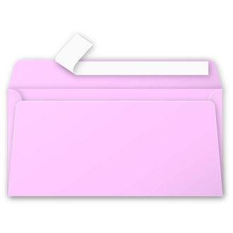 CLAIREFONTAINE - 20 Enveloppes  Rose Dragée 110x220 Pollen Auto-adhésives120g