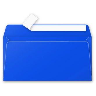 CLAIREFONTAINE - 20 Enveloppes Bleu Nuit 110x220 Pollen Auto-adhésives 120g