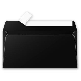 CLAIREFONTAINE - 20 Enveloppes Noir 110x220 Pollen Auto-adhésives 120g