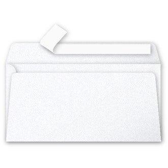 CLAIREFONTAINE - 20 Enveloppes Blanc Irisé 110x220 Pollen Auto-adhésives 120g