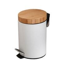 Achat en ligne Poubelle de salle de bain en métal et bambou 3L