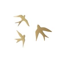 Achat en ligne 3 oiseaux métal doré 15x14-15x10-15x8cm