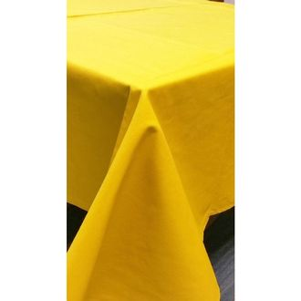 Nappe antitache 150x250cm en coton moutarde