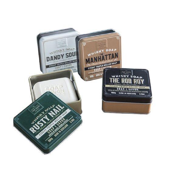 Achat en ligne Savon en boîte métal Whisky Cocktails 100g