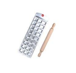 compra en línea Molde para 27 raviolis de aluminio + rodillo de madera