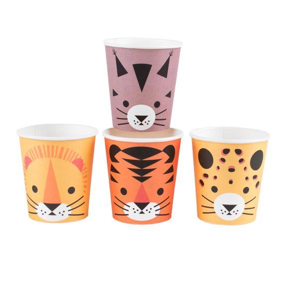 acquista online Bicchieri motivo felini 8pz.