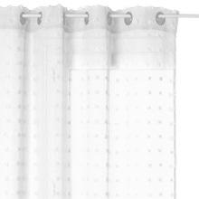 Achat en ligne Voilage avec petits pompons Lily blanc 140x240cm