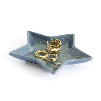 Coupelle à bijoux en céramique tempête Etoile 12,3x11,7cm