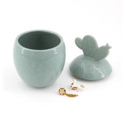 Achat en ligne Boite à bijoux en céramique sauge Cactus Maya 8,5x14cm