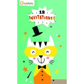 Clairefontaine - Cartes d'invitation animaux - 17x10cm