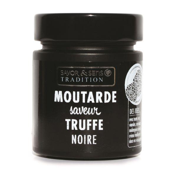 Moutarde arôme de truffe noire pot noir 130g