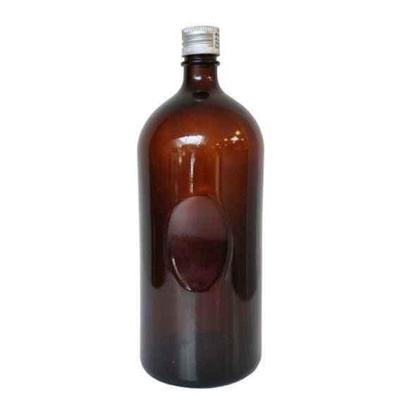 acquista online Bottiglia di vetro ambrato da 1,2L con tappo alluminio