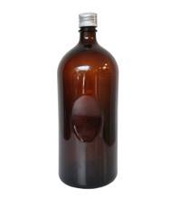 Achat en ligne Bouteille en verre ambrée avec bouchon en aluminium 1,2L