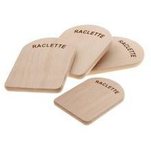Achat en ligne 4 planchettes à raclette en bois