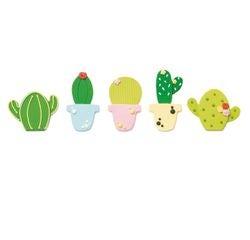 compra en línea 5 cactus de decoración de azúcar verde (100 gr)