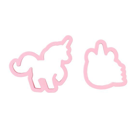 Lot de 2 découpoirs licorne rose 8 et 11x2,2cm