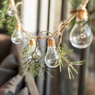 Guirlande intérieure led 10 ampoules sur corde chanvre 2.7m