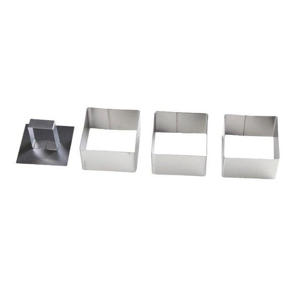 Achat en ligne Lot de 3 carrés avec poussoir en inox 7cm