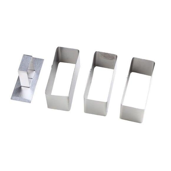 Achat en ligne Lot de 3 rectangle avec poussoir en inox  4,8x3,7cm