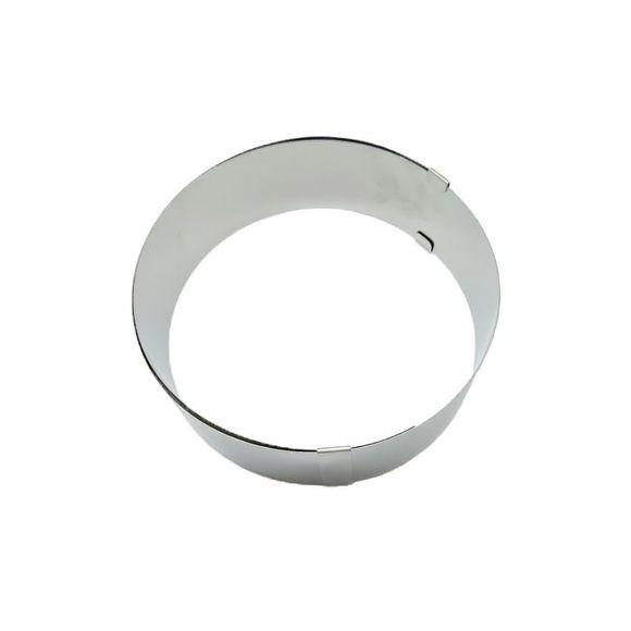 Cerchio inox regolabile diametro 18/30cm alto 6cm