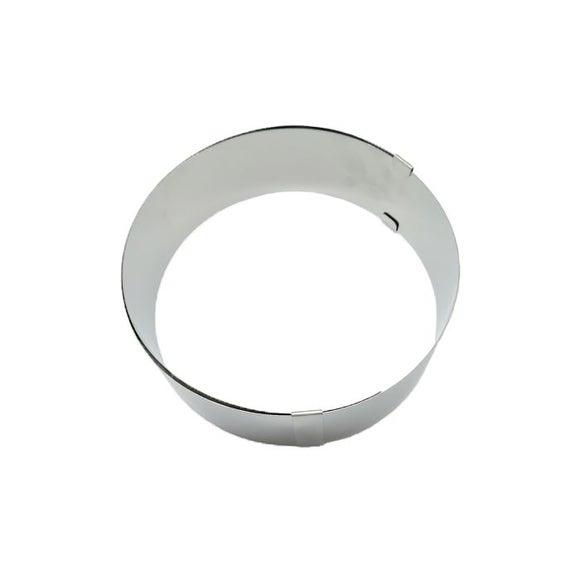 Achat en ligne Cercle à pâtisserie extensible en inox 18-30cm haut 6cm