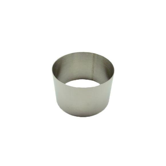 Cerchio inox diametro 7cm altezza 4,5cm