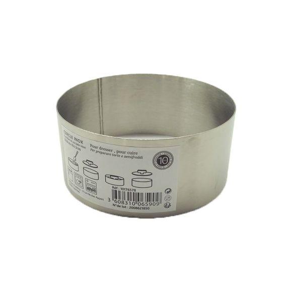 Cercle à pâtisserie en inox 8cm haut 4,5cm