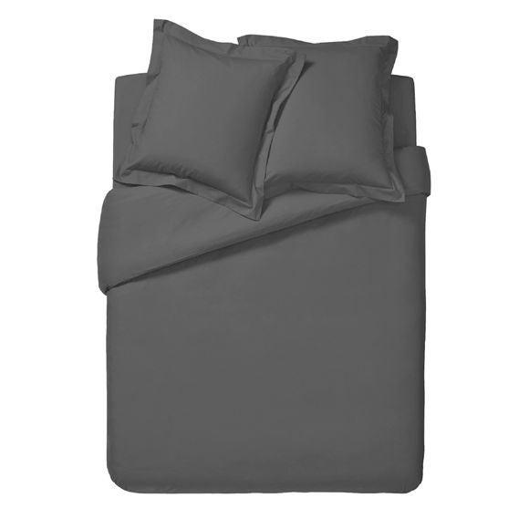acquista online Copripiumino matrimoniale king size in cotone grigio