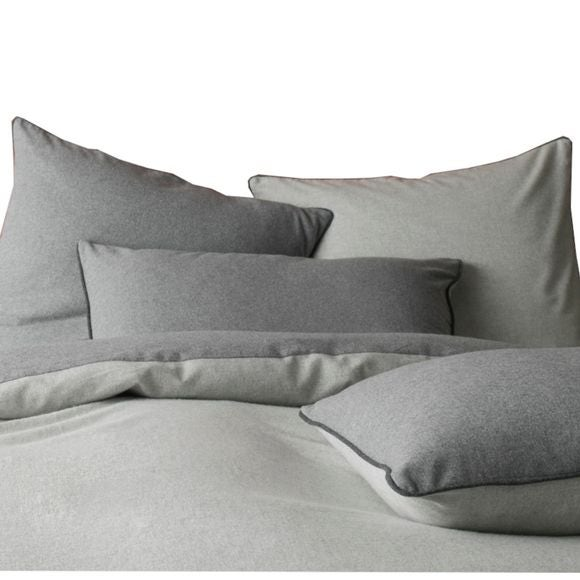 acquista online Federa in flanella grigio 50x70