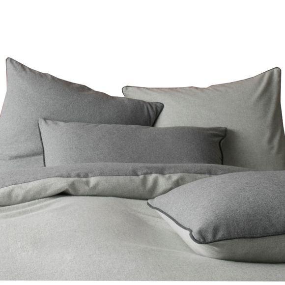 acquista online Lenzuolo con angoli singolo in flanella grigio