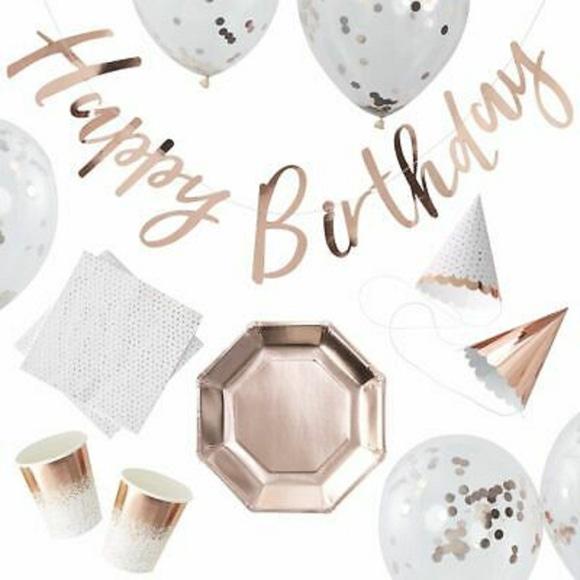 Achat en ligne Party box Happy birthday rose