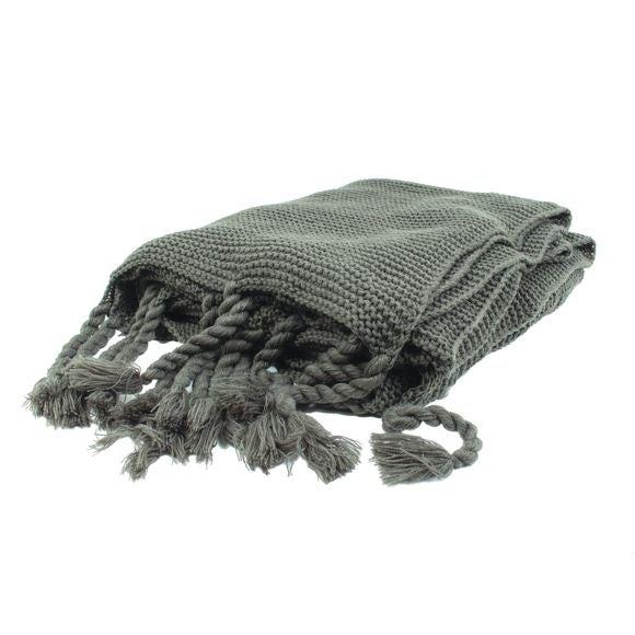 Achat en ligne Plaid XL tricoté Romie gris souris 150x200 cm