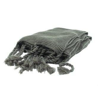 Plaid xl tricoté romie gris souris 150x200 cm