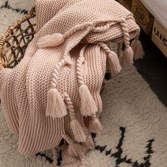 Plaid xl tricoté romie make up 150x200 cm