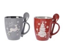 Achat en ligne Coffret mug cuillere Gris/rouge