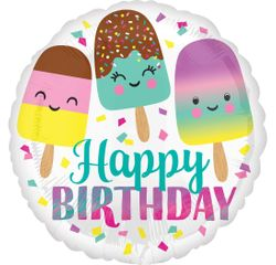 Achat en ligne Ballon hélium glace happy birthday